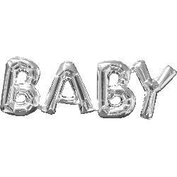 SuperShape Phrase BABY Silver 66cm  x 22cm