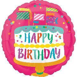 10cm Happy Birthday Fancy Flags Cake 10cm