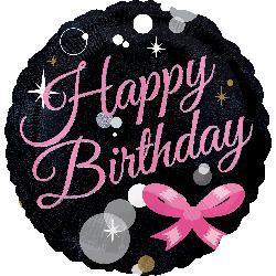 10cm Happy Birthday Bubbles 10cm