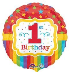 Rainbow 1st Birthday HEXL 43cm