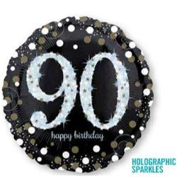 Sparkling Birthday 90 Holographic Sparkles 45cm