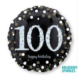Sparkling Birthday 100 Holographic Sparkles 45cm