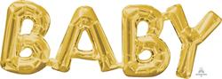 SuperShape Phrase BABY Gold 66cm  x 22cm
