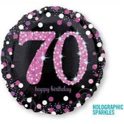 Pink Celebration 70 Holographic Sparkles 45cm