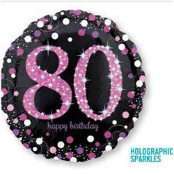 Pink Celebration 80 Holographic Sparkles 45cm