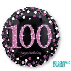 Pink Celebration 100 Holographic Sparkles 45cm