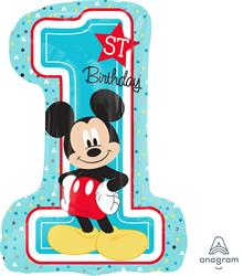 Mickey 1st Birthday Boy Shape 48 x 71cm