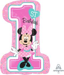 Minnie 1st Birthday Girl Shape 48 x 71cm