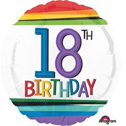 Rainbow Birthday 18 HEXL 43cm NEW