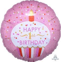 1st Birthday cupcake Girl 45cm