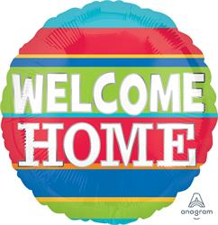 Welcome Home Colourful Stripes 43cm