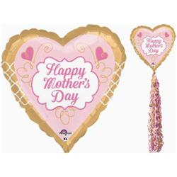 Happy Mother Day Gold and Pink 213cm High with 81cm foil