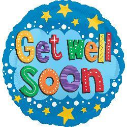Get Well Soon Stars and Brights HEXL 43cm