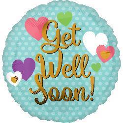 Get Well Soon Hearts HEXL 43cm