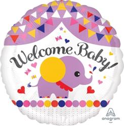 Welcome Baby Elephant Streamers 43cm NEW