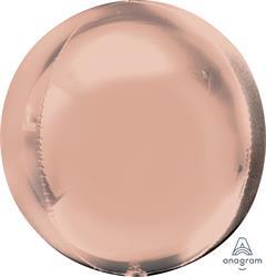 Orbz Dazzling Rose Gold Solid Colour 43cm x 45cm