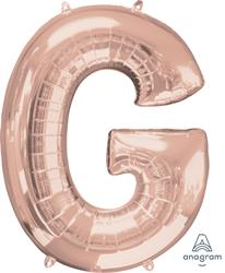 Anagram Letter G Rose Gold 63 x 81cm