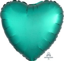 Heart Satin Luxe Jade Anagram packaged 45cm