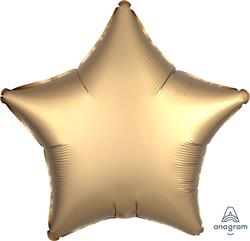 Star Satin Luxe Gold Sateen Anagram packaged 45cm