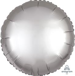 Circle Satin Luxe Platinum Anagram packaged 45cm