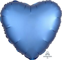 Heart Satin Luxe Azure Anagram packaged 45cm