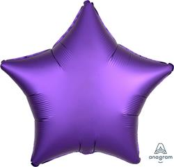 Star Satin Luxe Purple Royale Anagram packaged 45cm