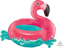 Floating Flamingo Supershape 76cm x 68cm