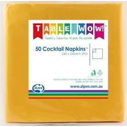 Napkins Cocktail Yellow P50
