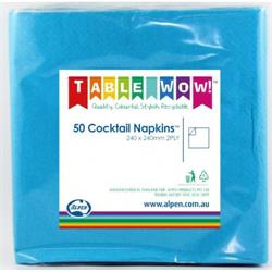Napkins Cocktail Azure Blue P50