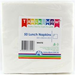 Alpen Lunch Napkins White 2ply