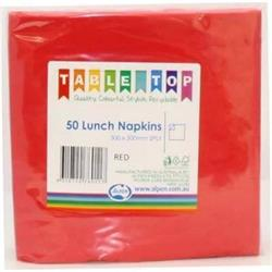Alpen Lunch Napkins Red 2ply