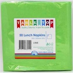 Alpen Lunch Napkins Lime Green 2ply