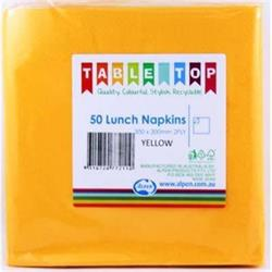 Alpen Lunch Napkins Yellow 2ply