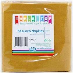 Alpen Lunch Napkins Gold 2ply