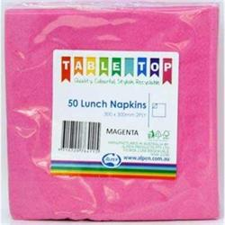Alpen Lunch Napkins Magenta 2ply