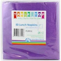 Alpen Lunch Napkins Purple 2ply