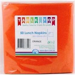 Alpen Lunch Napkins Orange 2ply