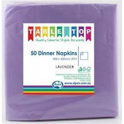 Alpen Dinner Napkins Lavender 2 ply