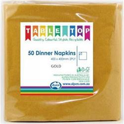 Alpen Dinner Napkins Gold 2 ply