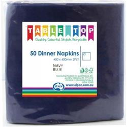 Alpen Dinner Napkins Navy Blue 2 ply