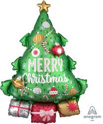Muti Balloon Christmas Tree  63 x 86cm
