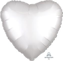 Heart Satin Luxe White Anagram packaged 45cm