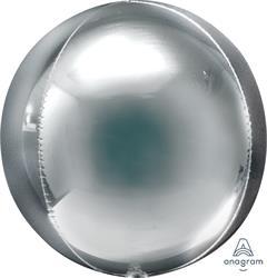 Orbz Jumbo Silver Dazzling Solid Colour 45cm x 53cm