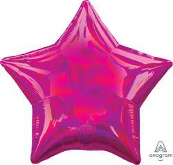 Star Iridescent Pink 45cm. Unpackaged