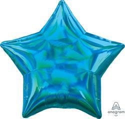 Star Iridescent Blue 45cm.  Unpackaged