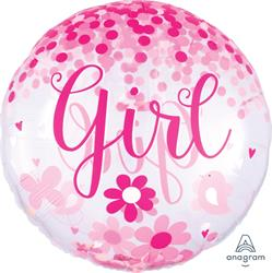 Confetti Balloon Baby Girl  (with confetti inside) 71cm