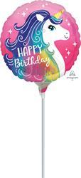 Pink Unicorn Happy Birthday 23cm