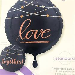 "Navy Wedding 45cm reverse side says ""Better Together"""