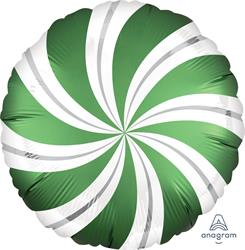Satin Infused Candy Swirl Emerald  45cm