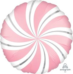 Satin Infused Candy Swirl Pink 45cm